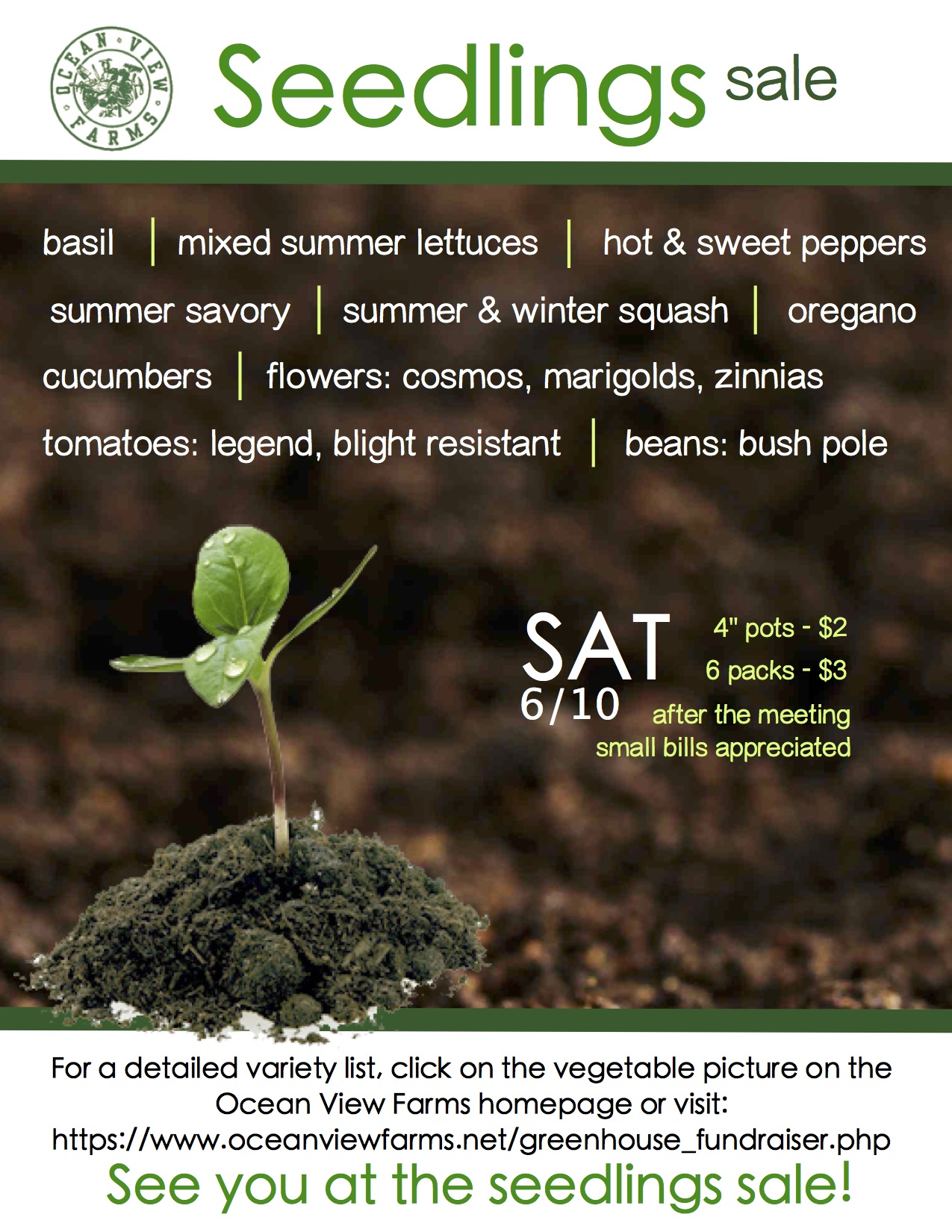 seedling sale