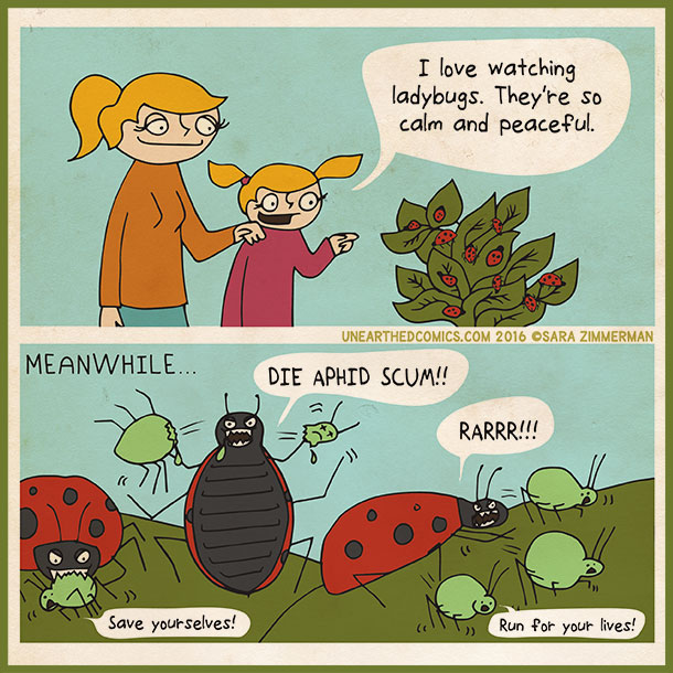 comic strip http://unearthedcomics.com/comics/ladybugs/