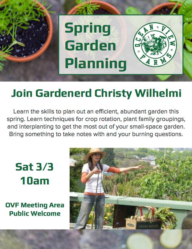 garden planning workshop